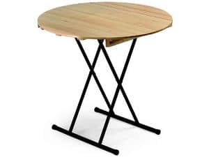 Table Eva, Folding table, wiwth round top, for banquet
