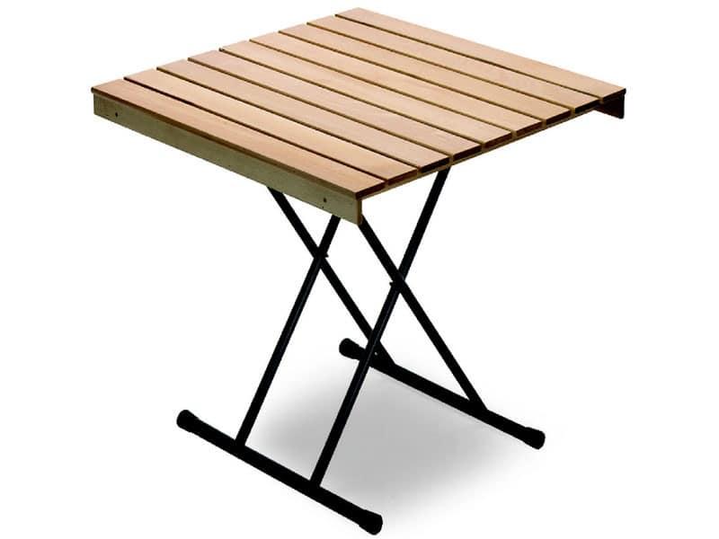 Tavolo Eva, Space-saving table, beech top. for bar and restaurant