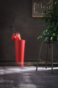 Umbrella, Red leather umbrella holder, available in other colors