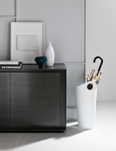 Pluvia, Umbrella stand in bonded leather, with handle