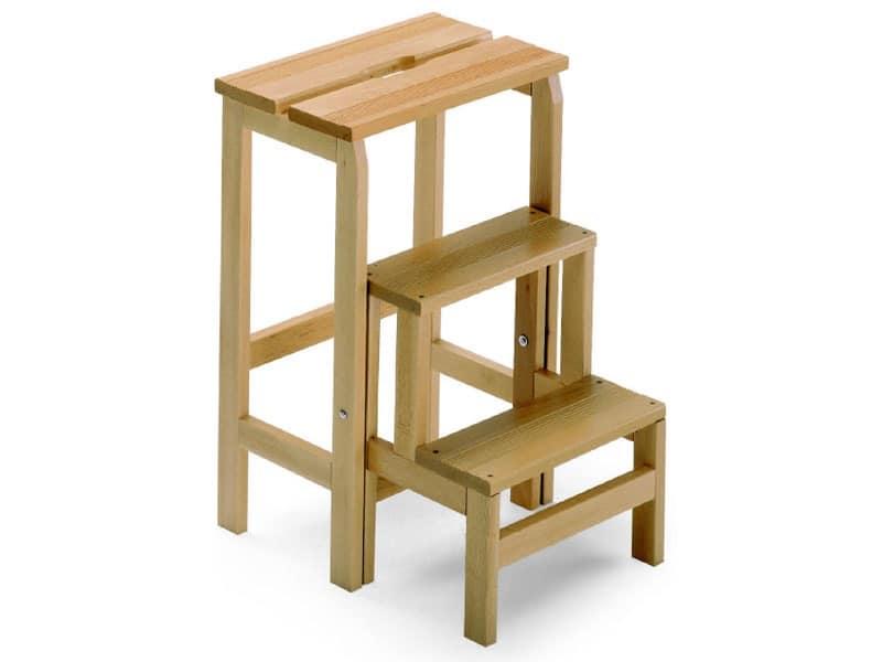 Scala 3, Step ladder made of beechwood