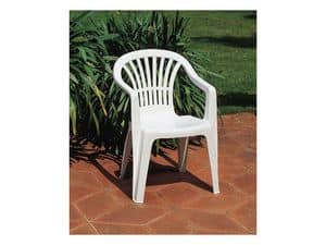 Altea, Outdoor chair with armrests, made of plastic