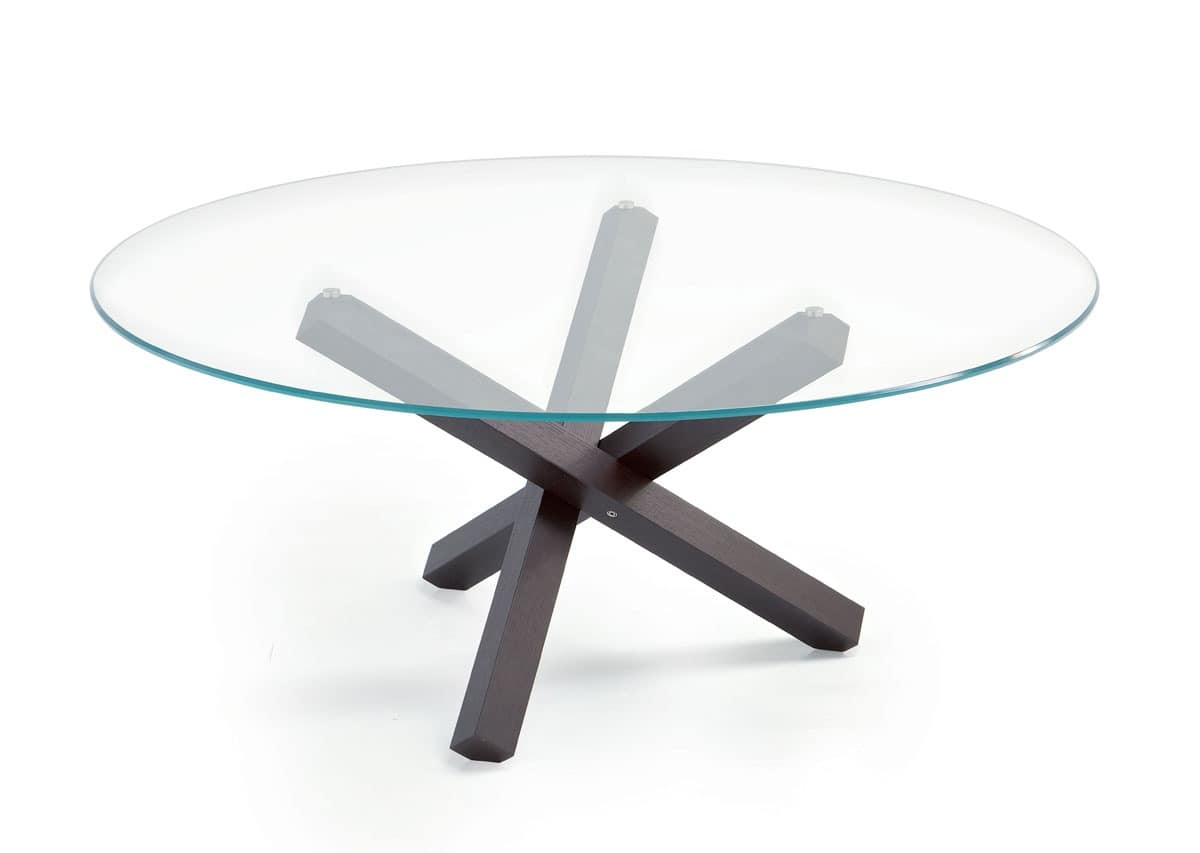 Table with glass surface Aikido Round