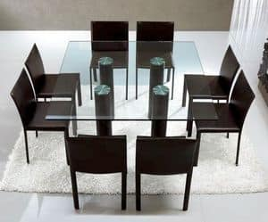 Picture of Avana T0603, dining tables with glass top
