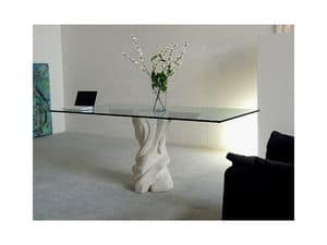 Picture of Mezzaluna cherry, table glass top