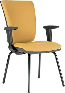 Comfort 4 legs, Padded chair for office guests