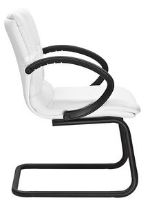 Diamond cantilever, Visitor chair with black armrests, cantilever base