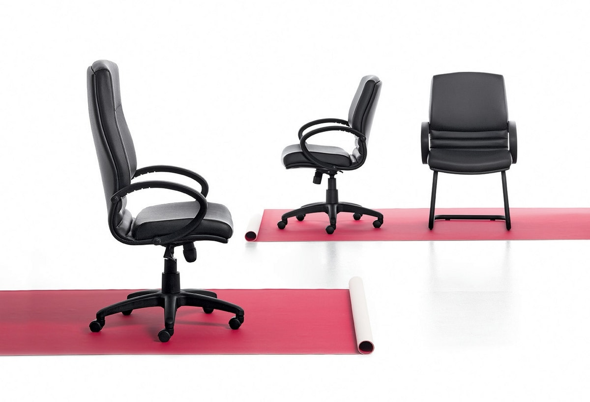 Digital 03, Sled chair, base in tubular steel, for office