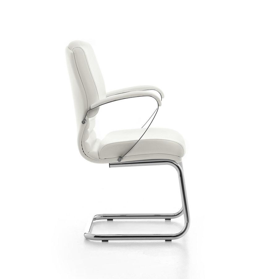Digital CR 03, Visitor chair, tubular steel base, for office