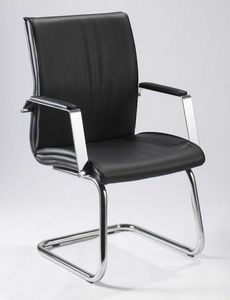 Iris V 508, Leather chair, for office executive visitors