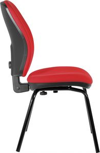 Nuvola 4 legs, Padded chair with backrest adjustable in height