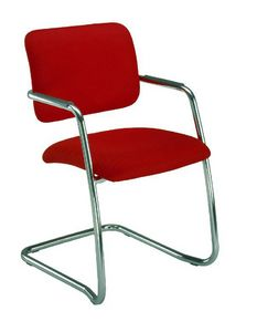 Wait 136 L, Chair with cantilever base, with low backrest
