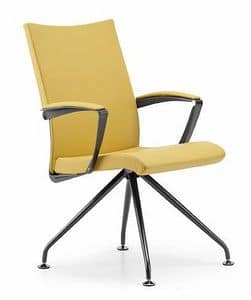 AVIA 4085, Padded chair with armrests, for meeting room