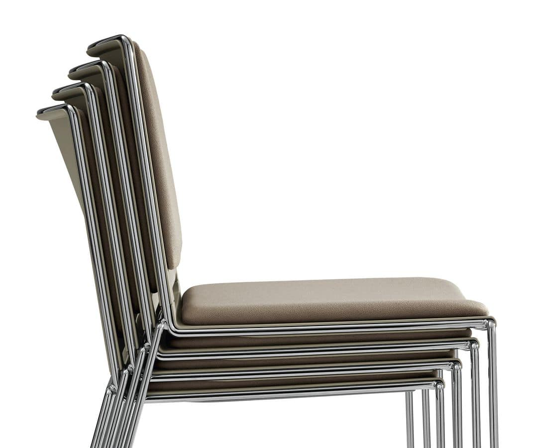 padded stackable chair
