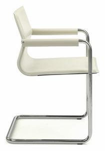 Picture of Lybra chair with armrests 10.0172, metal chair