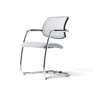 Social mesh, Modern Chair, polyurethane seat, mesh back