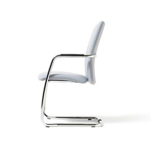Social, Sled armchair, stackable, metal base, for Office