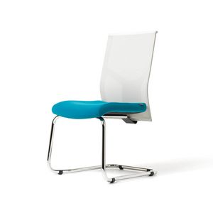 Fit mesh visitor, Visitor chair with mesh backrest, for call centers