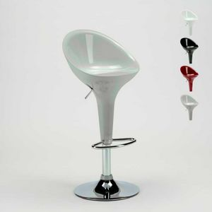 Bar stool and kitchen with swivel chrome peninsula SAN DIEGO Modern design - SGA800SDG, Height-adjustable high stool