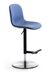 M�ni Fabric ST-ADJ, Swivel stool with footrest