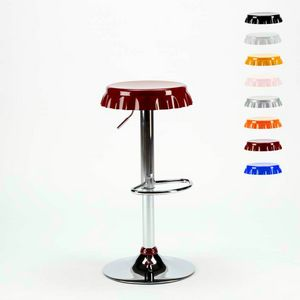 Stool in the form of a Bottle Cap Bar and Kitchen DALLAS Design - SGA800DAL, Stool in the shape of a cap with footrest