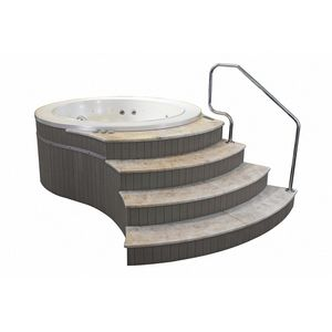 Canaria Freestanding, Mini-pool freestanding, covered with gray oak