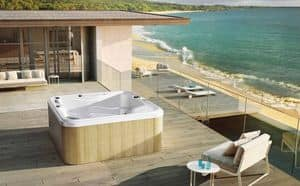 MYSPA 215, Mini pool with whirlpool and chromotherapy, for garden