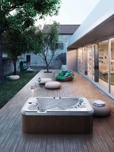 MYSPA 216/165, Mini swimmingpool from garden, with whirlpool, for outdoors