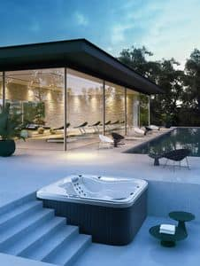 MYSPA 228, Mini swimming pool with Jacuzzi, free standing or built in
