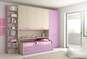 Bridge KP 102, Bedroom with furniture on wheels with anti-lock system