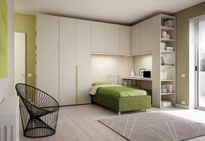 Bridge KP 201, Bedroom with optimized space, with various finishings
