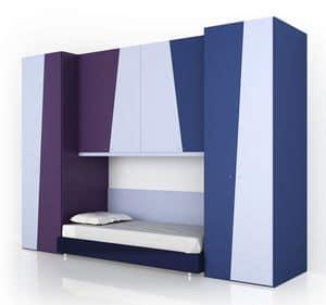 Child bedroom comp.1, Modular bedroom for children, in modern style
