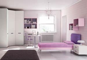 Children bedroom KC 211, Children bedroom with wall units and corner cabinet