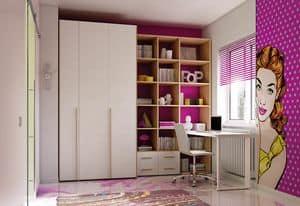 Children bedroom KC 214, Saving space bedroom with foldaway bed