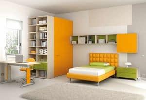 Children bedroom KC 102, Modern children bedroom with adjustable desk