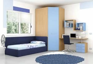 Children bedroom KC 120, Children bedroom colored with water-based paints, eco-friendly