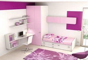 Children bedroom KC 121, Modern bedroom for girls, in recyclable materials