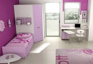 Children bedroom KC 125, Modern bedroom and practical, ideal for girls