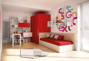 Children bedroom KC 205, Modern bedroom, lacquered with water paints