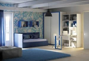 Children bedroom KC 207, Modern children bedroom with bed with storage