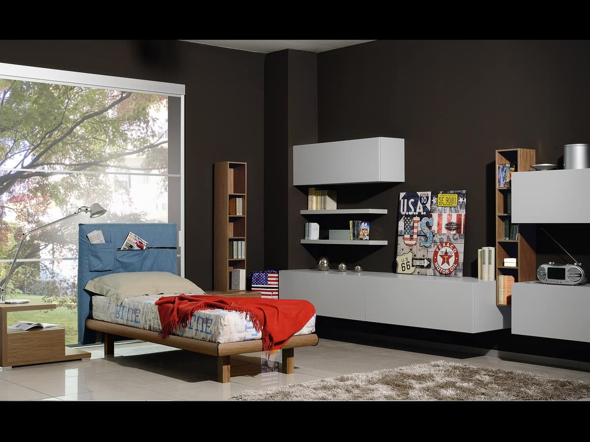 Climb Youngs 04, Bedroom for boys, with furniture in modern style