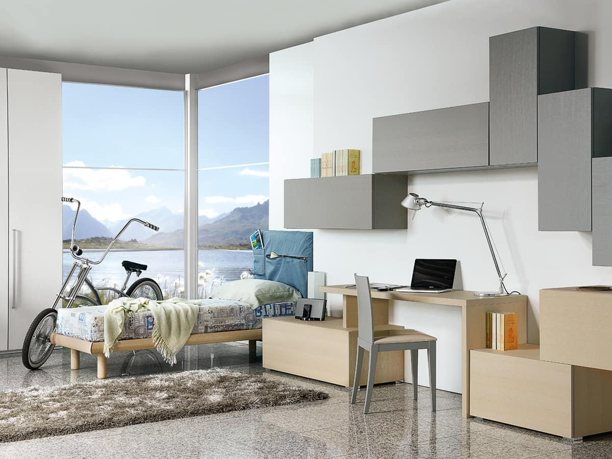 Climb Youngs 12, Bedroom for children with a desk, in a modern style