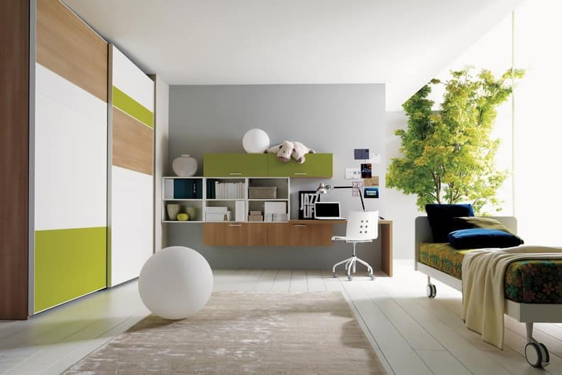 Comp. 105, Compact boy room, sophisticated colors