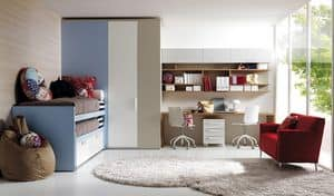 Picture of Comp. 110, modular bedroom for children