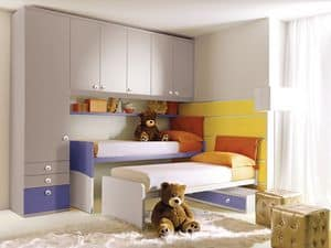 Picture of Comp. 208, modular bedroom for children
