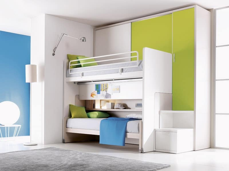 Comp. 302, Bedroom with bunk bed, customizable