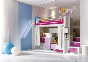 Comp. 306, Bedroom, wooden slats, different colors