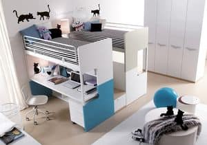 Picture of Comp. 307, furniture for children and youngster bedroom
