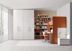 Comp. 308, Children's room, wood laminate, side ladder