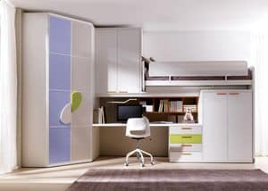 Picture of Comp. 402, modular bedroom for children